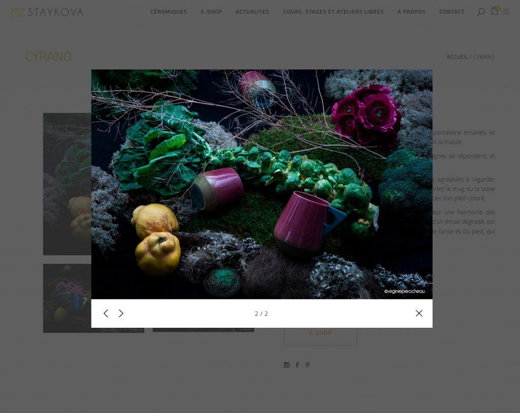 capture ecran du site de stakova ceramiste